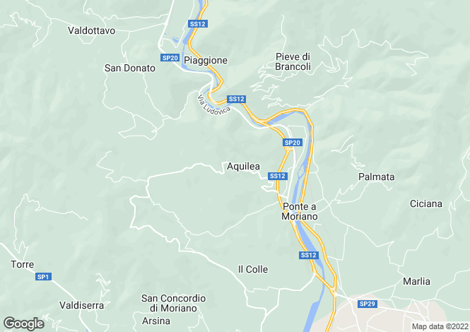 Map for Lucca, Lucca, Italy