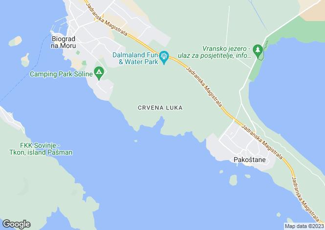 Map for Biograd na Moru, Zadar