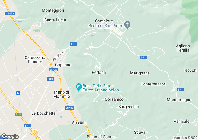 Map for Italy - Tuscany, Lucca, Camaiore