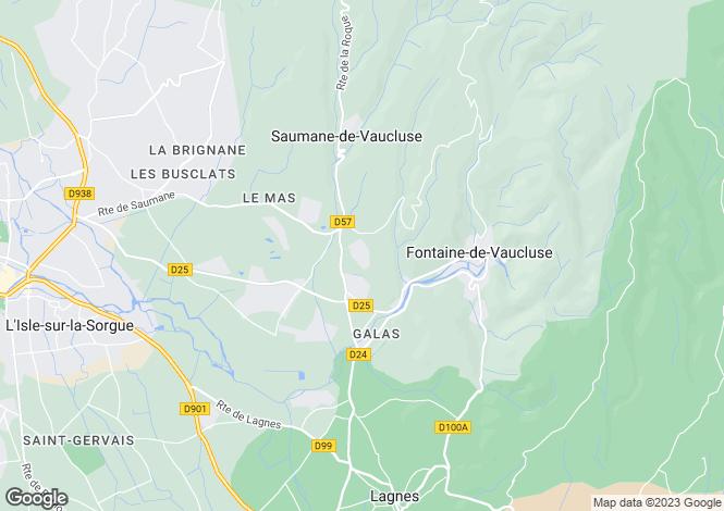Map for L`Isle-sur-la-Sorgue, Vaucluse, Provence-Alps-Cote d`Azur