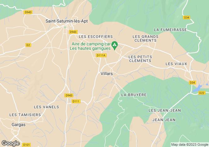 Map for Provence-Alps-Cote d`Azur, Vaucluse, Villars
