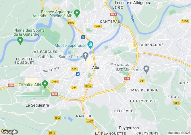 Map for Proche / Near Albi, Tarn
