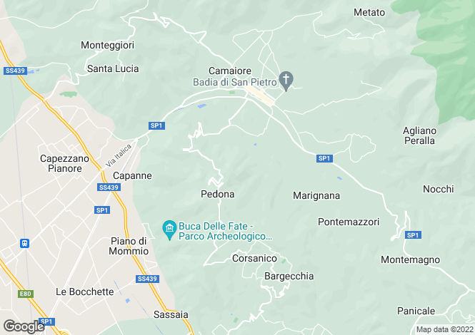 Map for Casale Ugolino, Camaiore, Lucca