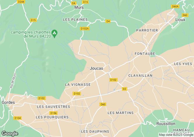 Map for 84220, Joucas, Vaucluse