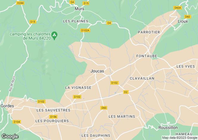 Map for Provence-Alps-Cote d`Azur, Vaucluse, Joucas