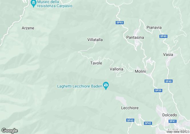 Map for Liguria, Imperia, Prelà