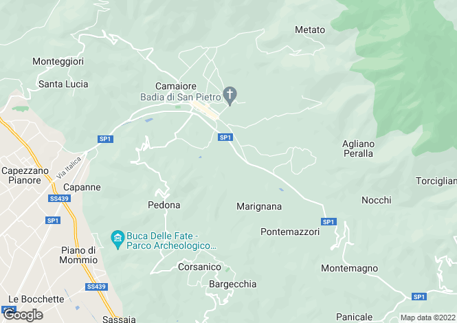 Map for Camaiore, Lucca, Tuscany