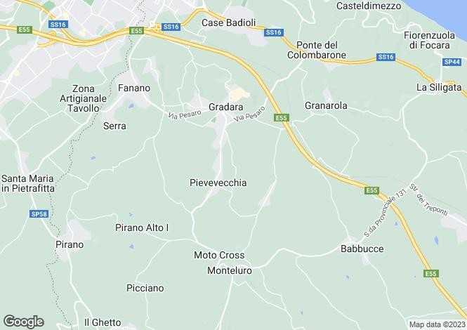 Map for Gradara, Pesaro e Urbino, Le Marche