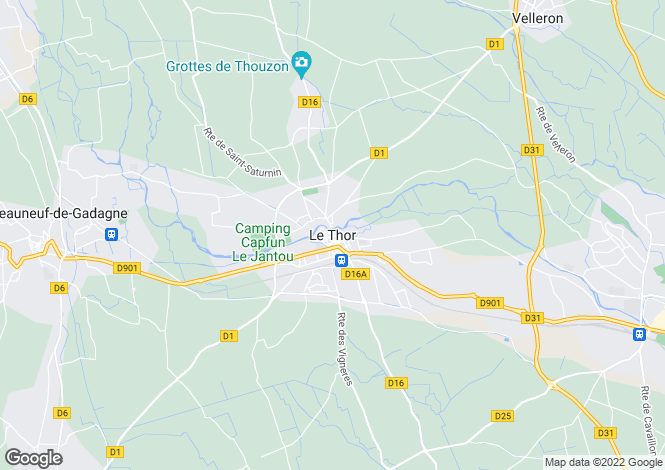 Map for 84250, Le Thor, Vaucluse