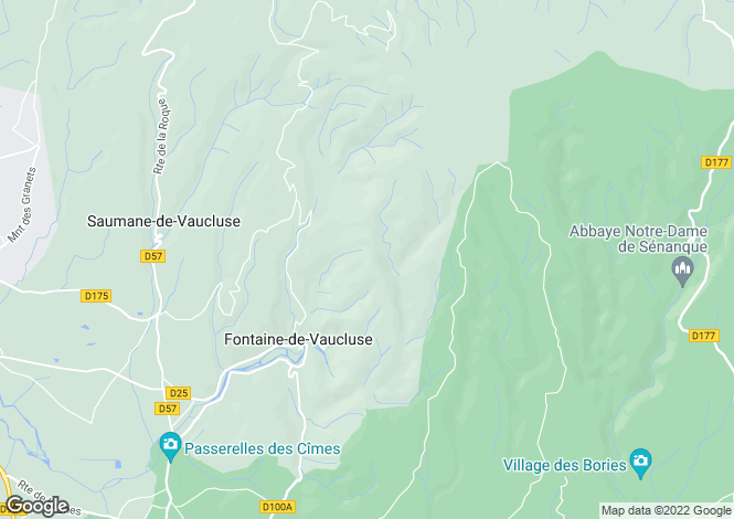 Map for Fontaine-de-Vaucluse, Vaucluse, France
