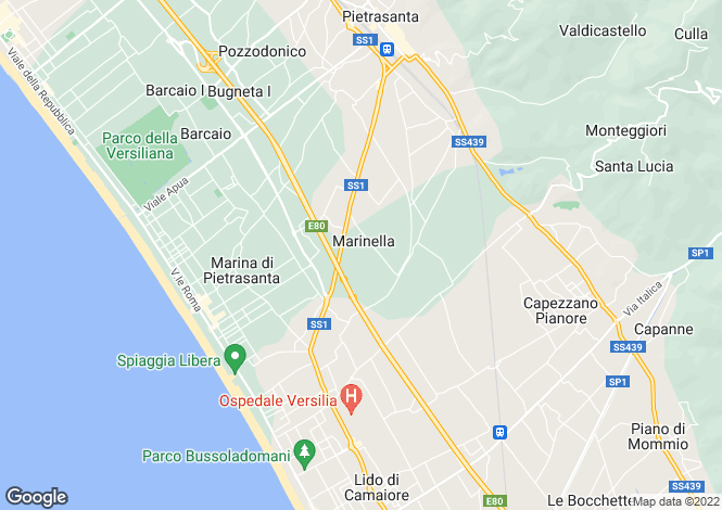 Map for Forte Dei Marmi, Lucca, Tuscany