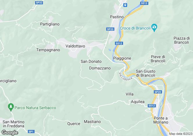 Map for Tuscany, Lucca, Borgo a Mozzano