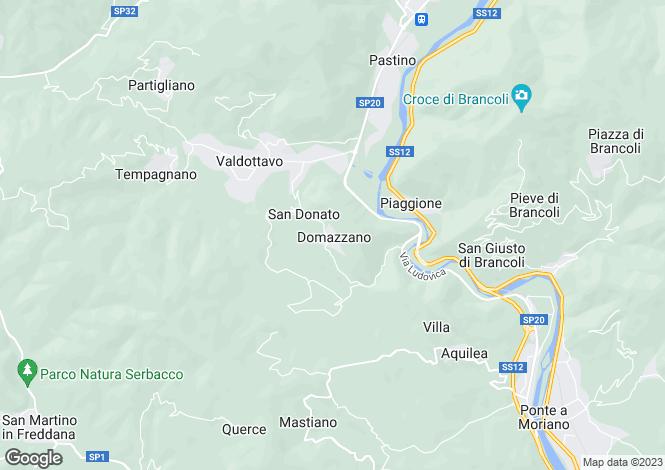 Map for Domazzano, Tuscany, Italy