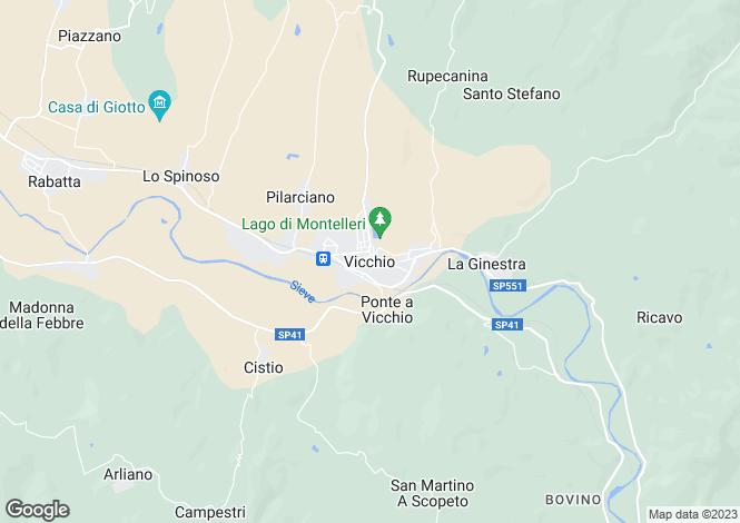 Map for Vicchio, Tuscany, Italy