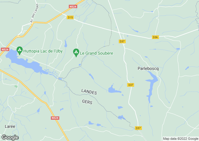 Map for parleboscq, Landes, France