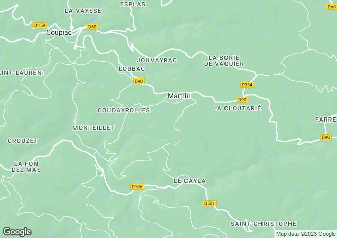Map for Martrin, Aveyron, Midi-Pyrénées
