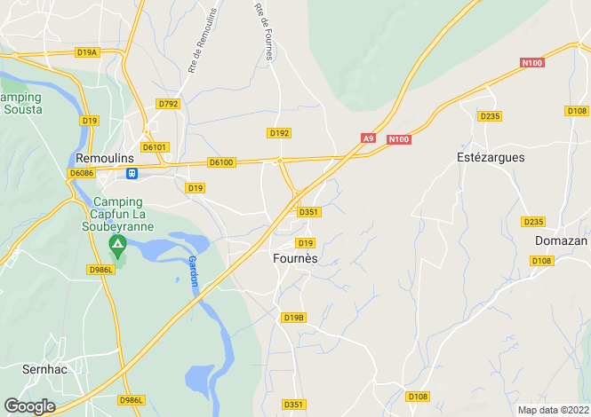 Map for fournes, Gard, France