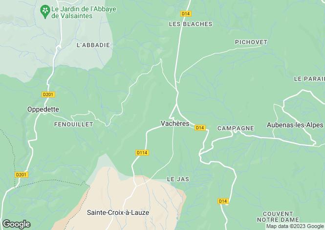 Map for Provence-Alps-Cote d`Azur, Alpes-de-Haute-Provence, Vachères
