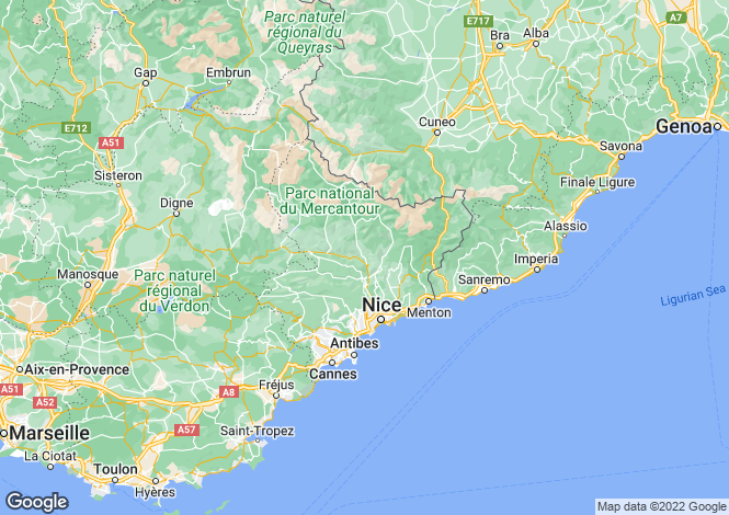 Map for miramar, Alpes-Maritimes, France