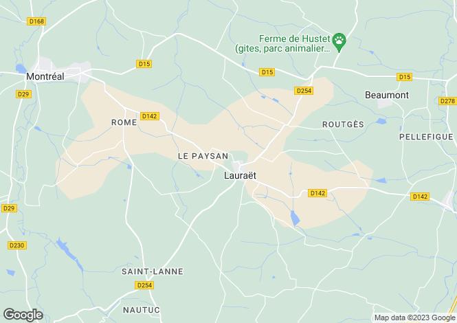 Map for Midi-Pyrénées, Gers, Condom