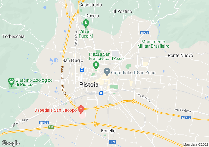 Map for Tuscany, Pistoia, Pistoia