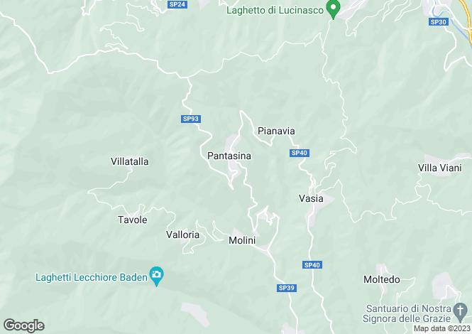 Map for Vasia, Imperia, Liguria