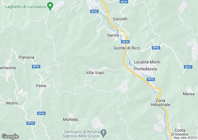 Map for Pontedassio, Imperia, Liguria