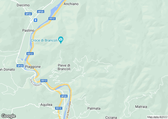 Map for Lucca, Lucca, Tuscany