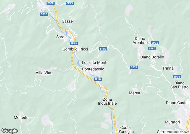 Map for Liguria, Imperia, Pontedassio