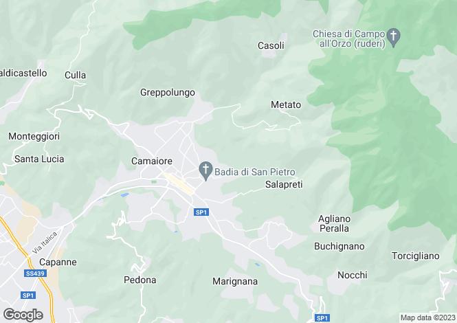 Map for Il Cannizzaro, Camaiore, Tuscany, Italy