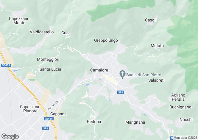 Map for Camaiore, Tuscany, Italy