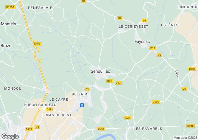 Map for senouillac, Tarn, France