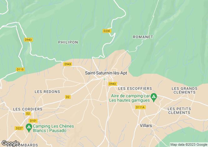 Map for 84490, Saint Saturnin les Apt, Vaucluse