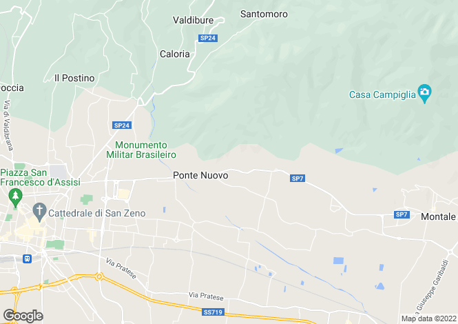 Map for Pistoia, Pistoia, Tuscany