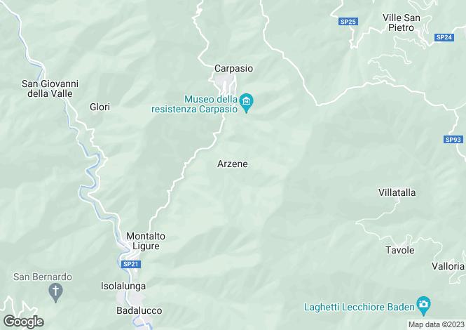 Map for Liguria, Imperia, Carpasio