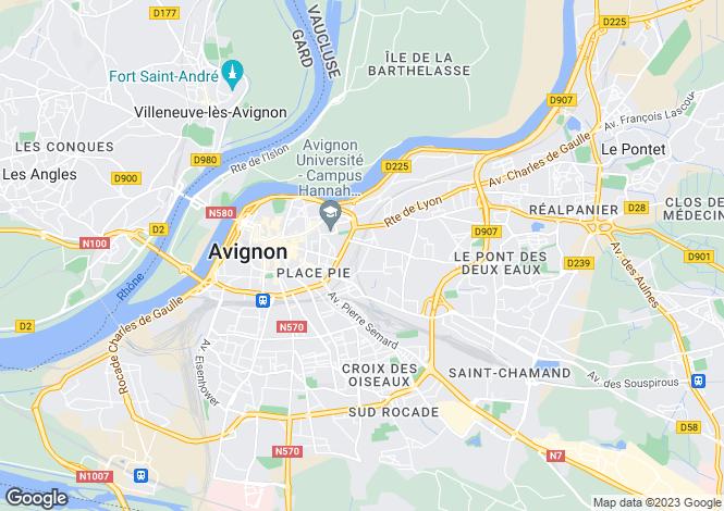Map for Provence-Alps-Cote d`Azur, Vaucluse, Avignon
