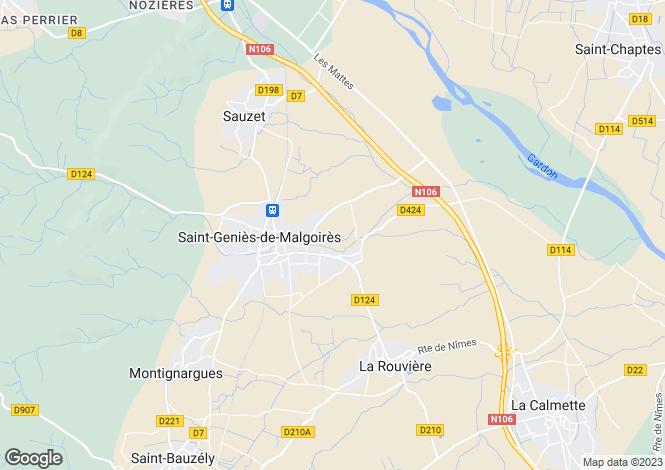 Map for st-genies-de-malgoires, Gard, France