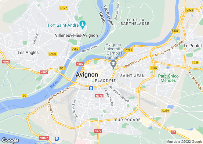Map for 84000, Avignon, Vaucluse
