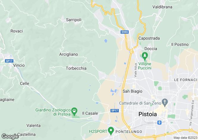 Map for Pistoia, Pistoia, Tuscany