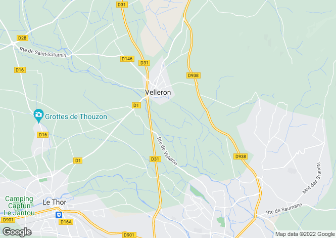 Map for velleron, Vaucluse, France