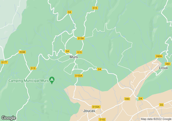 Map for murs, Vaucluse, France