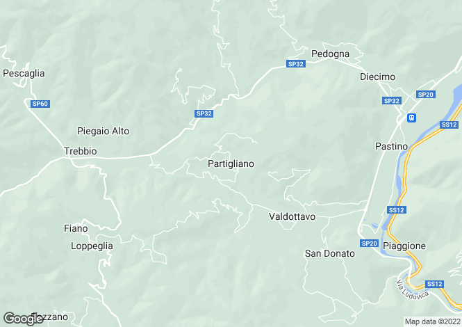 Map for Partigliano, Tuscany, Italy