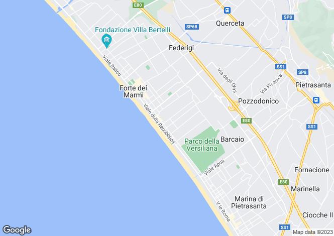 Map for Forte dei Marmi, Lucca, Italy