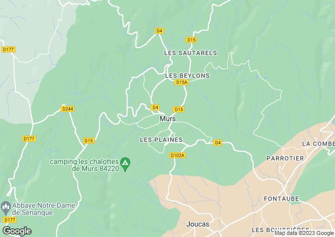 Map for Provence-Alps-Cote d`Azur, Vaucluse, Murs