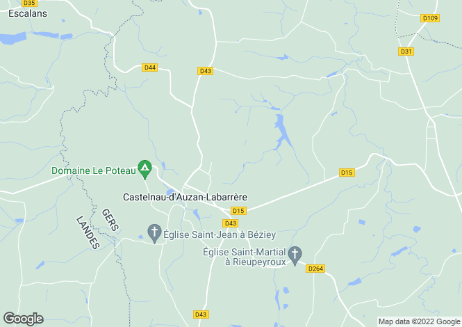 Map for castelnau-d-auzan, Gers, France