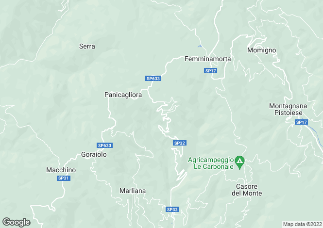 Map for Tuscany, Pistoia