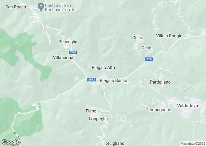 Map for Pescaglia, Lucca, Tuscany