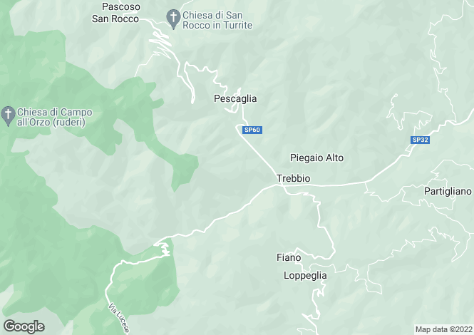 Map for Tuscany, Lucca, Pescaglia