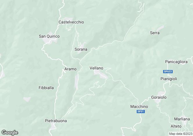 Map for Vellano, Tuscany, Italy
