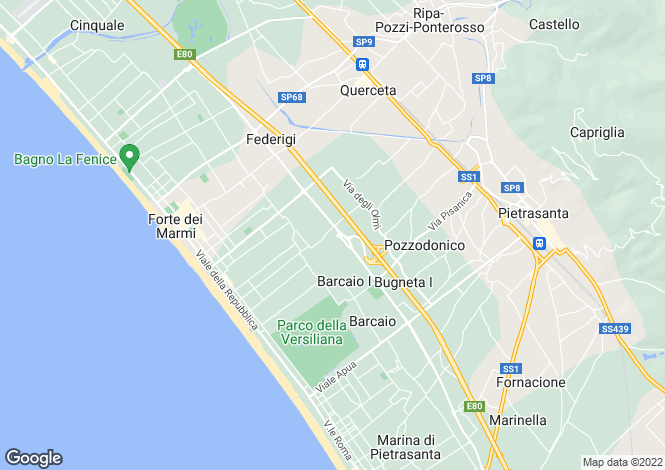Map for Tuscany, Lucca, Forte Dei Marmi